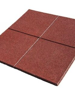 Dalle en caoutchouc rouge 100 x 100 cm