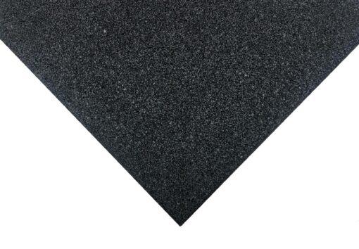 Loseta de caucho negra 100 x 100 cm