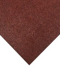 Placa de borracha vermelha 100 x 100 cm
