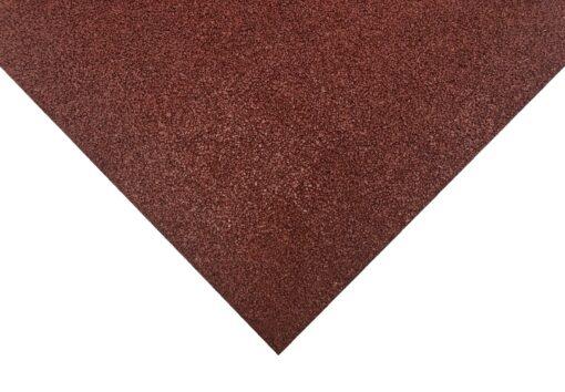 Loseta de caucho roja 100 x 100 cm