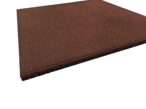 Loseta de caucho alta densidad 50 x 50 x 2 cm