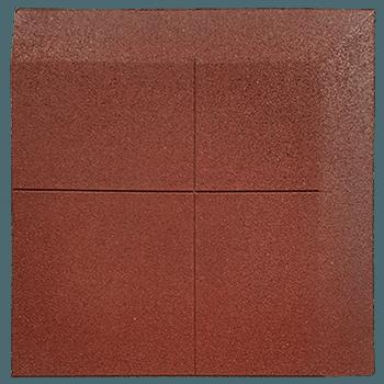 loseta de caucho biselada una una esquina dos lados 100 x 100 cm 2