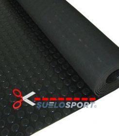 Pavimento de circulos negro de 3 mm por metro lineal