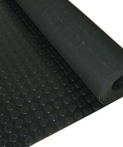 Revêtement de sol rond noir de 3 mm par mètre