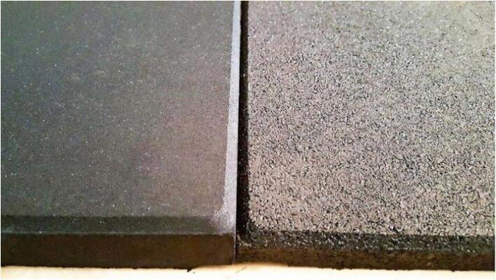 losetas de caucho de diferentes densidades