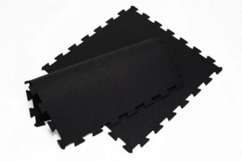 Loseta de caucho engarzable tipo puzzle negra