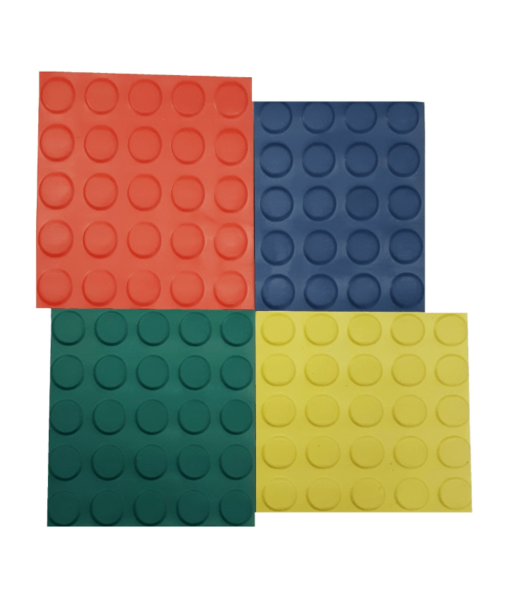 Pavimento de círculo de color de 3 mm por metro lineal