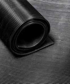 Pavimento de borracha estriado fino 3 mm por medidor linear