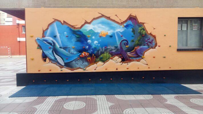 losetas de caucho azules para rocodromo