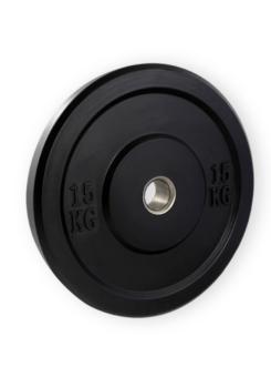 Disco bumper goma maciza negro casquillo acero