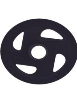 Disco olímpico 4 agarres casquillo acero