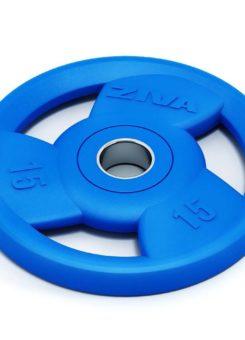 Disco olímpico goma azul Ziva
