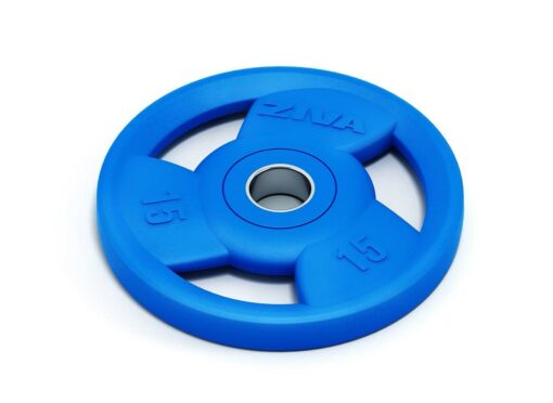 Disque Ziva en caoutchouc bleu olympique