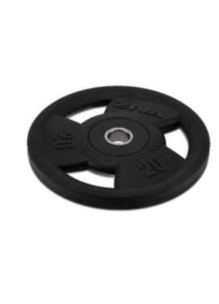 Disco olímpico goma negro Ziva