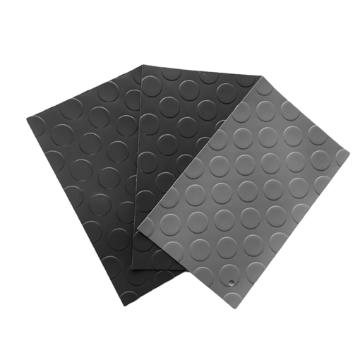 Revêtement de sol en PVC avec cercles de 1 mm par rouleau