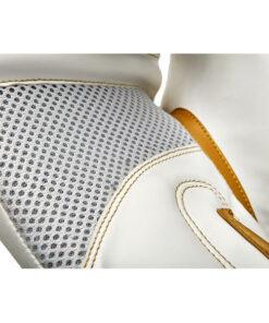 guante de boxeo eco cuero 10 oz dorado y blanco reebok 2