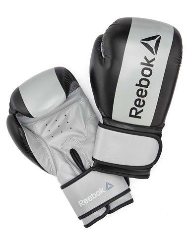 Guante boxeo eco cuero 14 oz gris y negro Reebok