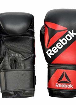 Guante boxeo piel rojo y negro Reebok