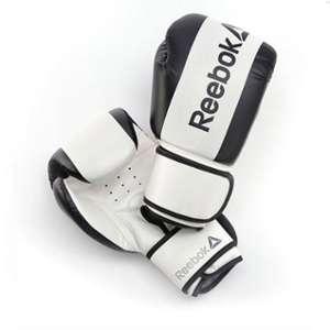 Guante boxeo PU 14 oz blanco y negro Reebok