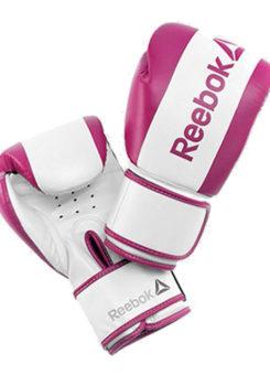 Guante boxeo PU 10 oz blanco y rosa Reebok