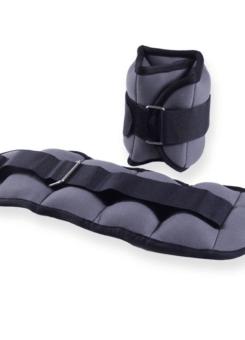 Tobilleras y muñequeras de EVA color gris (par)