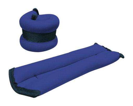 Tobilleras y muñequeras de neopreno color azul (par)
