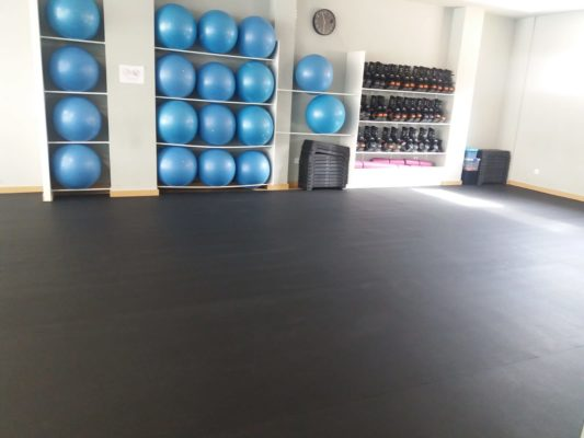 Suelo de gimnasio Sport Dark de 8 mm