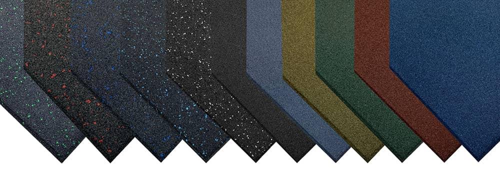 gama de losetas de caucho de alta densidad premium